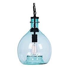 green glass pendant lighting. Casamotion - Wavy Hammered Hand Blown Glass Pendant Light, 1 Celling Hanging Green Lighting S