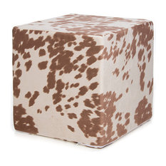 Cow Pillow, Tan Faux