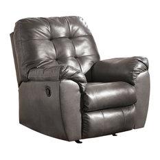 Flash Furniture - Signature Design by Ashley Alliston Rocker Recliner, Gray DuraBlend - Recliner Chairs