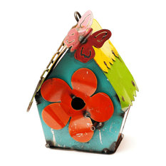 Hanging Birdhouse With Butterfly, Small
