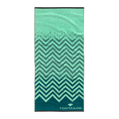 Tom Tailor Sports Towel, Mint Green and Blue