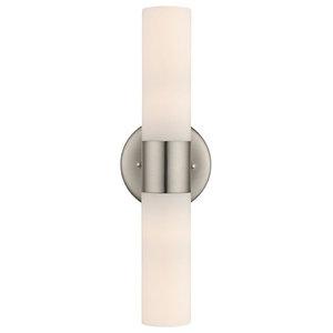 Satin Nickel Bathroom Light - Vertical or Horizontal Mounting