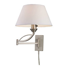 Elysburg 1-Light Swing Arm Sconce, Satin Nickel