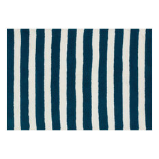 Loloi Rugs, Lola Shag, Navy and White, 5'x7' by Loloi Inc.