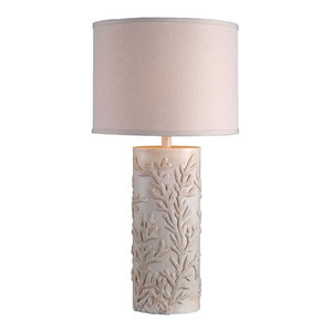 Reef Table Lamp, Antique White Finish