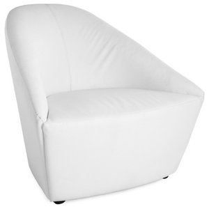 Surprising 2 White Artificial Leather Bucket Armchair Chrome Swivel Bralicious Painted Fabric Chair Ideas Braliciousco