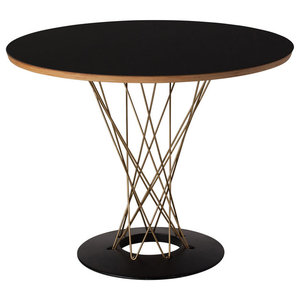 """Cyclone 36"""" Dining Table, Gold"""