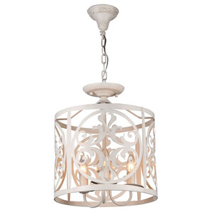 Rustika Drum Chandelier, 3 Lights
