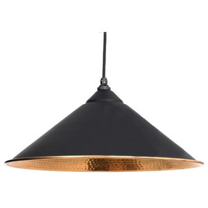 From The Anvil Yardley Pendant, Black Hammered Copper