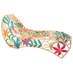 Jo-Liza International - Camia Lounger - beautiful handwoven with multi colored seagrass with flower designs