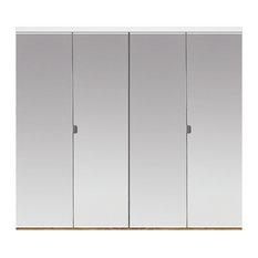 Custom Door U0026 Mirror   Polished Edge Mirror Solid Core Bi Fold Door   White
