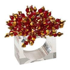 Kim Seybert Brilliant Napkin Ring, Red