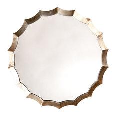 Round Scalloped Mirror