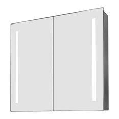 Rhea Ambient Light Demisting Bathroom Cabinet, With Under-Cabinet Lighting