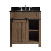 Oakland Single Vanity, Classic Nutmeg, 30""