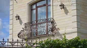 Кованый французский балкон