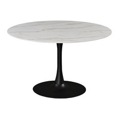 Tulip Faux Marble Top Dining Table