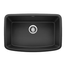"Blanco 442552 Valea 27""x18"" Granite Single Bowl Kitchen Sink, Anthracite"
