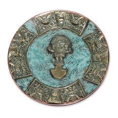Ceremonial Tumi Blade Bronze and Copper Decorative Plate