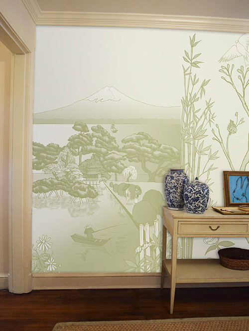 Chinoiserie japan murals scenoiserie collection for Chinoiserie mural