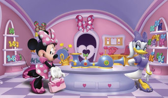 Disney Minnie Fashionista Prepasted Wall Mural 10.5'W x 6'H