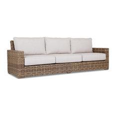 Havana Sofa With Cushions, Canvas Flax