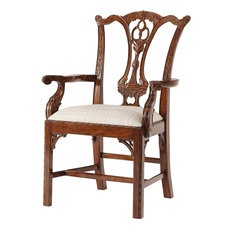 Theodore Alexander Mrs Chippendale's Formal Armchair #492.1AQP - Set of 2