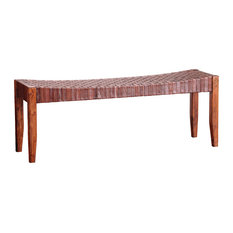 Saddler Extra Large Bench, Sienna Brown and English Chestnut