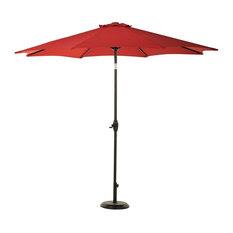 Sunbrella 8 Ribs 9' Outdoor Patio Umbrella With Auto Tilt and Crank, Red