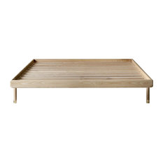 Kalon Simple Wood Bed Frame, Twin