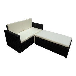 VidaXL Black Poly Rattan Garden Furniture Set By VidaXL Looking For  Midcentury Modern Living Room Ideas Monday September 17 2018
