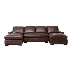 Abbyson Living Milan Sectional, Brown
