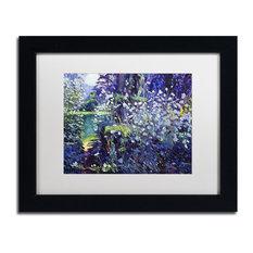 """Glover 'Tangled White Flowers' Art, Black Frame, 11""""x14"""", White Matte"""