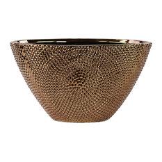 Stoneware Elliptical Tapered Vase, Bronze