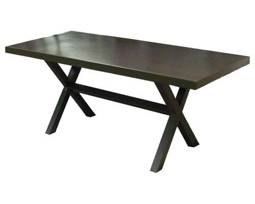Mesas de hierro y madera estilo industrial para exterior e - Mesas para exterior ...