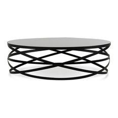 Vig Furniture Inc.   Modrest Wixon Modern Black Round Coffee Table   Coffee  Tables