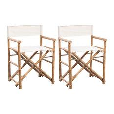 vidaXL Folding Director's Chair Bamboo Patio Garden Outdoor Deck Sunlounger
