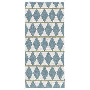 Zigge Woven Vinyl Floor Cloth, Blue, 150x200 cm