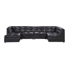 Furniture Import U0026 Export Inc.   Cloud 6 Piece Sectional And Ottoman, Black