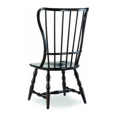 Beaumont Lane Spindle Dining Chair In Ebony