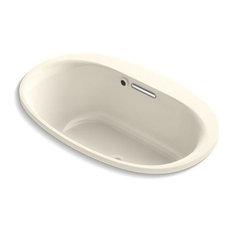 "Kohler Underscore Oval 60""x36"" Drop-In Bath With Bask Heated Surface, Almond"