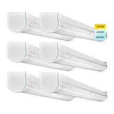 Luxrite 3FT LED Shop Light Strip Lights 3 Color Options 3000lm  6 Pack