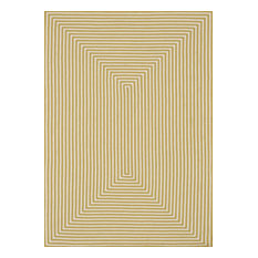 """Hand-braided 100% Polypropylene In / Out Area Rug by Loloi, Yellow, 5'x7'6"""""""