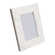 "Keith Italian Carrara White Marble Picture Frame, 4""x6"""