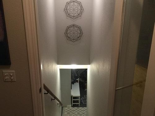 Lighting Basement Washroom Stairs: Light Fixture Over Stairs