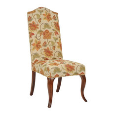Cream Floral Fabric Armless Chair Cover Only Made Of Made Of Imported Fabric In