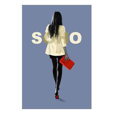 Female City Fashion Life, Acrylic Print