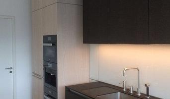 Veredelte Naturstein-Küchenarbeitsfläche Nero Assoluto