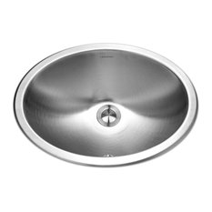 Houzer CHO-1800-1 Opus Stainless Steel Oval Bowl Lavatory Sink With Overflow
