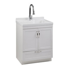 "Maile 28"" Laundry Cabinet With Pull-out Faucet and ABS Sink"